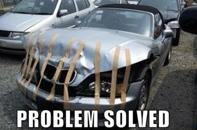 bmw accident repair meme