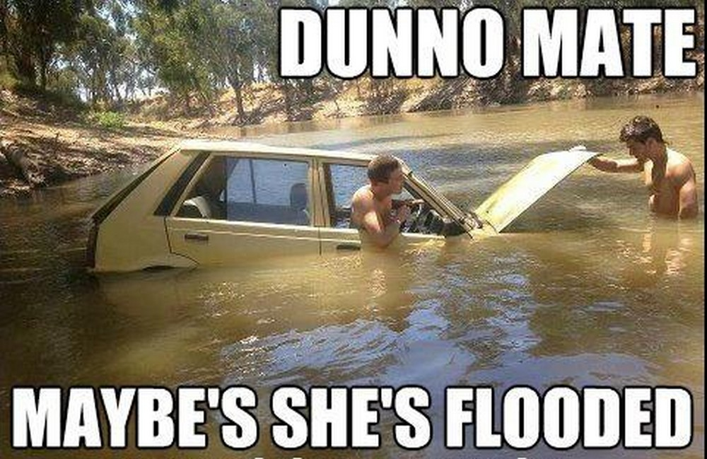 flooded car problem