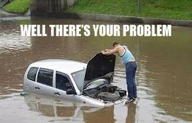 car flooded meme