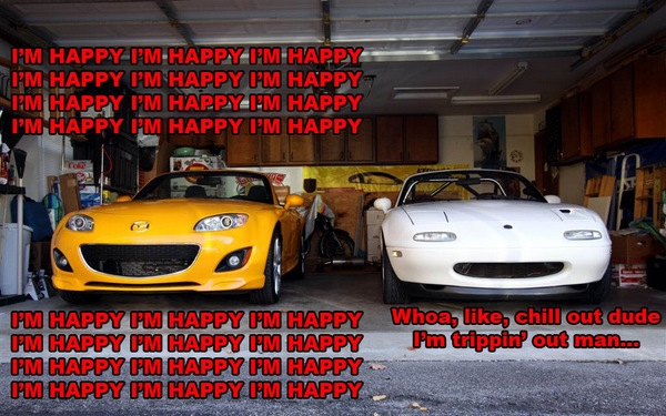 high and happy Miatas meme