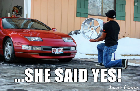 car proposal meme