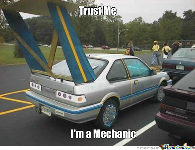trust the mechanic meme